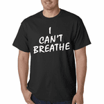 I Can't Breathe White Print Men's T-Shirt