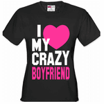 I Heart My Crazy Boyfriend Women's T-Shirt
