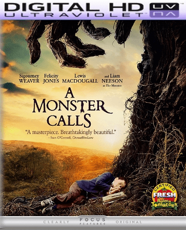 A Monster Calls HD Digital Ultraviolet UV Code