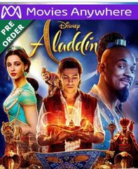 Aladdin (2019) HD Vudu or iTunes Code via MA (PRE-ORDER WILL EMAIL ON OR BEFORE BLU RAY RELEASE)