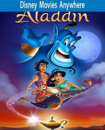 Aladdin DMA/DMR Disney Movies Anywhere Code