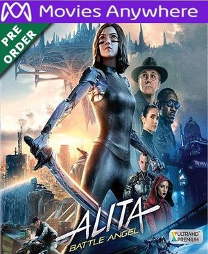 Alita: Battle Angel HD Vudu or iTunes Code via MA (PRE-ORDER WILL EMAIL ON OR BEFORE BLU RAY RELEASE)