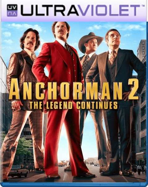 Anchorman 2 The Legend Continues  SD Ultraviolet UV Code