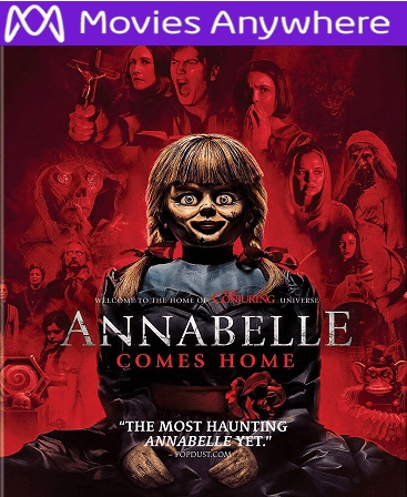 Annabelle Comes Home HD Vudu or iTunes Code via MA
