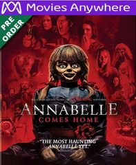 Annabelle Comes Home HD Vudu or iTunes Code via MA (PRE-ORDER WILL EMAIL ON OR BEFORE BLU RAY RELEASE)