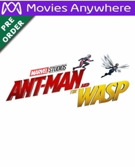Ant-Man & The Wasp HD UV or iTunes Code via MA (PRE-ORDER WILL EMAIL ON OR BEFORE BLU-RAY RELEASE DATE)