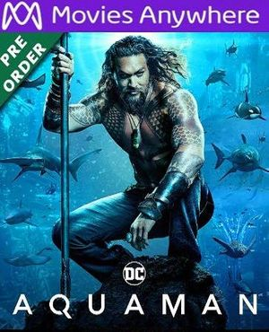 Aquaman HD UV or iTunes Code via MA (PRE-ORDER WILL EMAIL ON OR BEFORE BLU RAY RELEASE)
