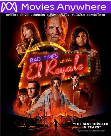 Bad Times At The El Royale HD UV or iTunes Code via MA