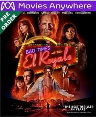 Bad Times At The El Royale HD UV or iTunes Code via MA (PRE-ORDER WILL EMAIL ON OR BEFORE BLU RAY RELEASE)