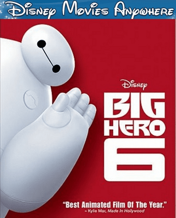 Big Hero 6 DMA Disney Movies Anywhere Code  (Will Port To Linked Services)