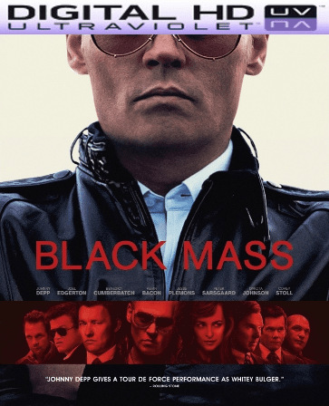 Black Mass HD Digital Ultraviolet UV Code (VUDU ONLY)