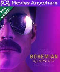 Bohemian Rhapsody HD UV or iTunes Code via MA (PRE-ORDER WILL EMAIL ON OR BEFORE BLU RAY RELEASE)
