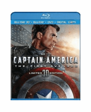 Captain America The First Avenger  Blu-ray 3D + Blu-ray + DVD + Digital Copy