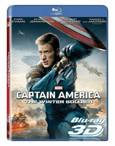 Captain America The Winter Soldier 3D Blu-ray Single Disc