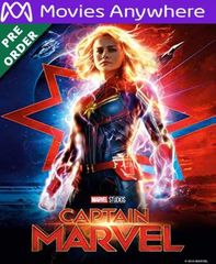 Captain Marvel HD Vudu or iTunes Code via MA (PRE-ORDER WILL EMAIL ON OR BEFORE BLU RAY RELEASE)