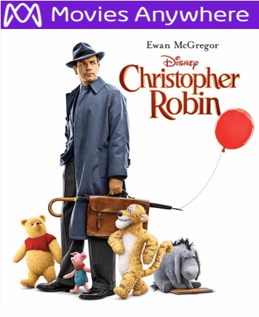 Christopher Robin HD UV or iTunes Code via MA