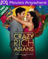 Crazy Rich Asians HD UV or iTunes Code via MA (PRE-ORDER WILL EMAIL ON OR BEFORE BLU RAY RELEASE)