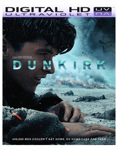 Dunkirk HD Ultraviolet UV or iTunes Code VIA Movies Anywhere