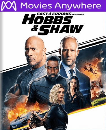Fast & Furious Presents: Hobbs & Shaw HD Vudu or iTunes Code via MA