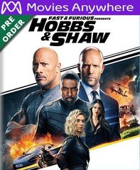 Fast & Furious Presents: Hobbs & Shaw HD Vudu or iTunes Code via MA (PRE-ORDER WILL EMAIL ON OR BEFORE BLU RAY RELEASE)