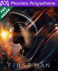 First Man HD UV or iTunes Code via MA (PRE-ORDER WILL EMAIL ON OR BEFORE BLUE RAY RELEASE)