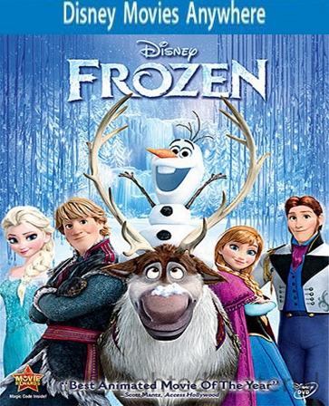 Frozen HD DMA Disney Movies Anywhere Code, Vudu or iTUNES