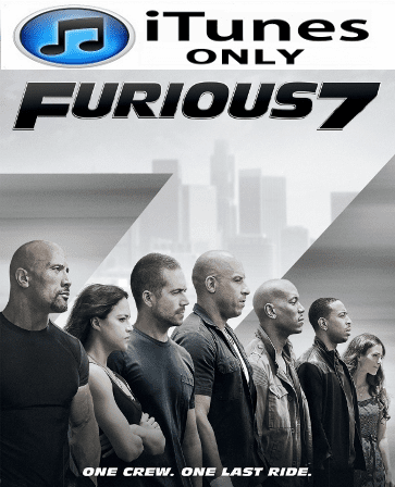 Furious 7 Extended Edition HD Digital Copy iTunes Only