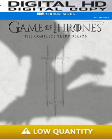 Game of Thrones Season 3 HD Digital Copy Code (Vudu / Flixster)