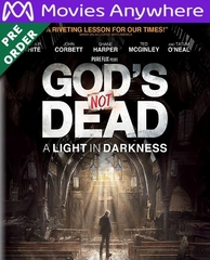 God's Not Dead: A Light in Darkness   HD UV or iTunes Code via MA (PRE-ORDER WILL EMAIL ON OR BEFORE BLU RAY RELEASE DATE)