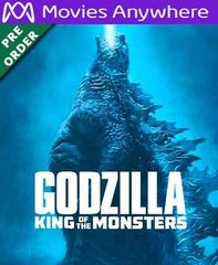 Godzilla: King of the Monsters HD Vudu or iTunes Code via MA (PRE-ORDER WILL EMAIL ON OR BEFORE BLU RAY RELEASE)