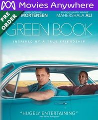 Green Book HD UV or iTunes Code via MA (PRE-ORDER WILL EMAIL ON OR BEFORE BLU RAY RELEASE)