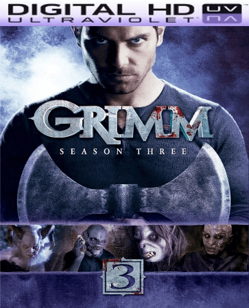 Grimm Season 3 HD Digital Ultraviolet UV Code (VUDU ONLY)