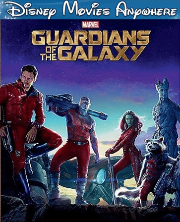 Guardians of the Galaxy DMA Disney Movies Anywhere Code ( Will Port To Linked Services)