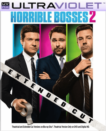 Horrible Bosses 2 SD Digital Ultraviolet UV Code