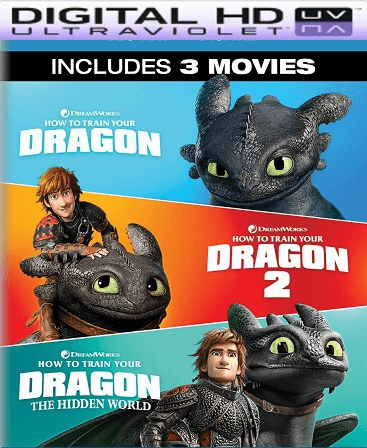 How To Train Your Dragon: 3-Movie Collection HD Vudu (InstaWatch)