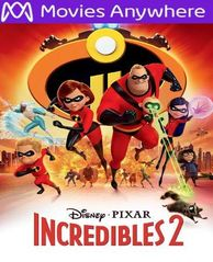 INCREDIBLES 2 HD UV or iTunes Code via MA