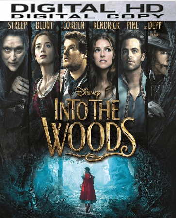 Into The Woods HD Digital Copy Code (Vudu)