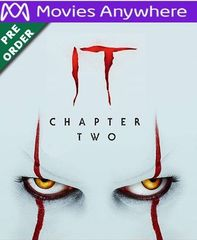 It: Chapter Two HD Vudu or iTunes Code via MA (PRE-ORDER WILL EMAIL BETWEEN Dec 10-12)