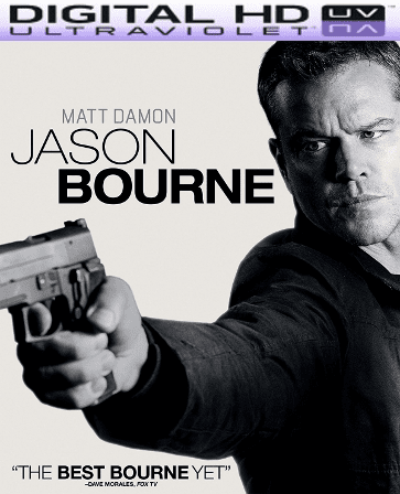 Jason Bourne HD Digital Ultraviolet UV Code