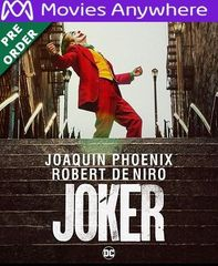 Joker HD Vudu or iTunes Code via MA (PRE-ORDER WILL EMAIL BETWEEN Dec 17-20)