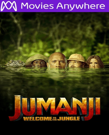 Jumanji: Welcome To The Jungle HD UV or iTunes Code via MA