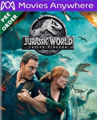 Jurassic World: Fallen Kingdom HD UV or iTunes Code via MA (PRE-ORDER WILL EMAIL ON OR BEFORE 9-18-18)