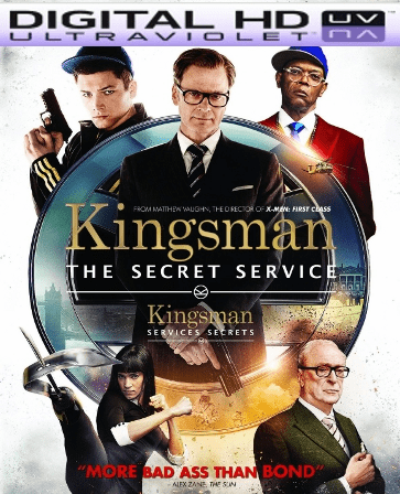 Kingsman Secret Service HD Digital Ultraviolet UV Code ( VUDU or iTunes)