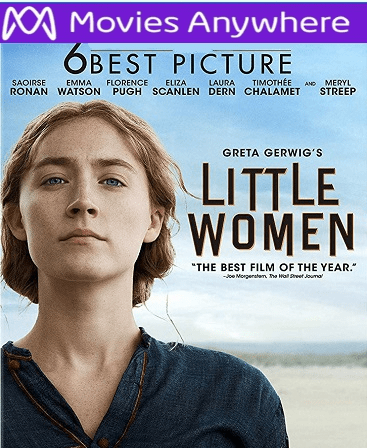 Little Women HD Vudu or iTunes Code via MA (PRE-ORDER WILL EMAIL BETWEEN APRIL 7-9)