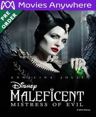 Maleficent: Mistress of Evil HD Vudu or iTunes Code via MA (PRE-ORDER WILL EMAIL ESTIMATED Jan 14-17)