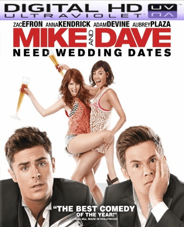 Mike & Dave Need Wedding Dates HD Digital Ultraviolet UV Code