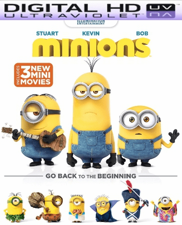 Minions HD Digital Ultraviolet UV Code