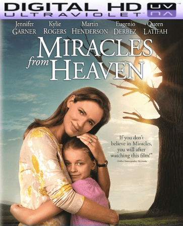 Miracles From Heaven HD Digital Ultraviolet UV Code