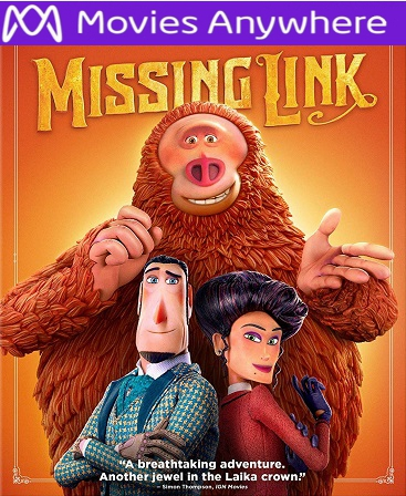 Missing Link HD Vudu or iTunes Code via MA