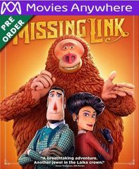 Missing Link HD Vudu or iTunes Code via MA (PRE-ORDER WILL EMAIL ON OR BEFORE BLU RAY RELEASE)